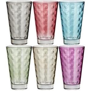 LEONARDO Gläser groß, 6er-Set  Optic ¦ mehrfarbig ¦ Glas ¦ Maße (cm): B: 24,5 H: 13,4 T: 16,4 Gläser & Karaffen  Große Gläser » Höffner
