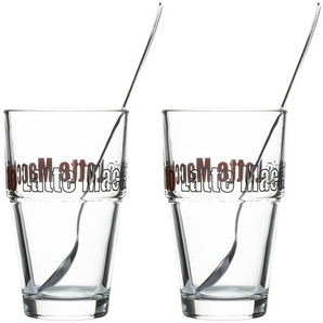 LEONARDO Latte Macchiato Gläser 4-teilig  Solo ¦ transparent/klar ¦ Glas ¦ Maße (cm): B: 17,5 H: 14,7 T: 8,7 Gläser & Karaffen  Latte Macchiato Gläser » Höffner