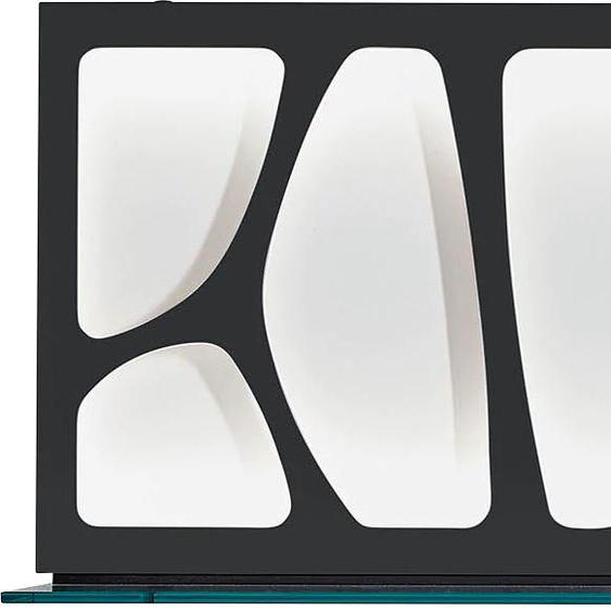 LEONARDO Wandpaneel CUBE, mit Genetics, wahlweise Beleuchtung, Breite 142 cm 142x25x42 cm, Mit neutralweißer Beleuchtung schwarz Verblendsteine Paneele Bauen Renovieren Regale