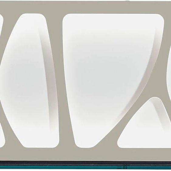 LEONARDO Wandpaneel CUBE, mit Genetics, wahlweise Beleuchtung, Breite 142 cm 142x25x42 cm, Mit RGB Beleuchtung & Fernbedienung braun Verblendsteine Paneele Bauen Renovieren Regale