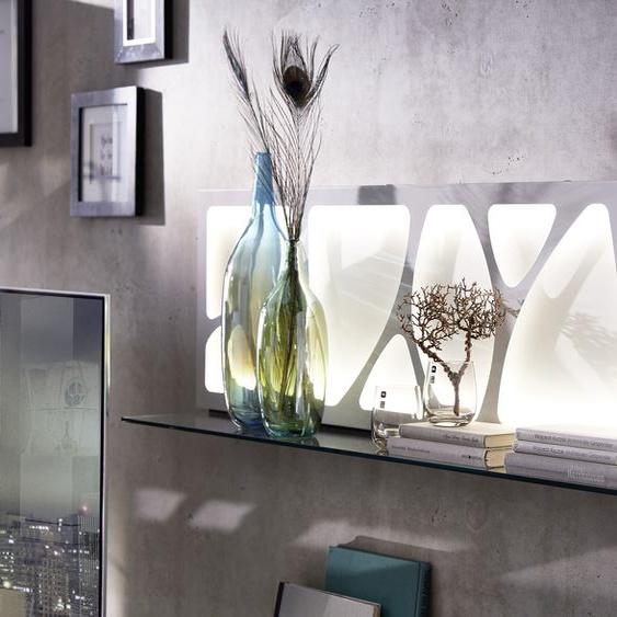 LEONARDO Wandpaneel CUBE, mit Genetics, wahlweise Beleuchtung, Breite 142 cm 142x25x42 cm, Ohne Beleuchtung weiß Verblendsteine Paneele Bauen Renovieren Regale