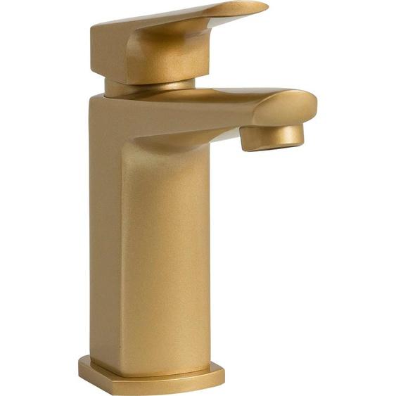 Leonique Badarmatur Marceau, inkl. Push-Pop Ablaufgarnitur und Abflussstopfen B/H/T: 40 cm x 16 15 goldfarben Badarmaturen Bad Sanitär