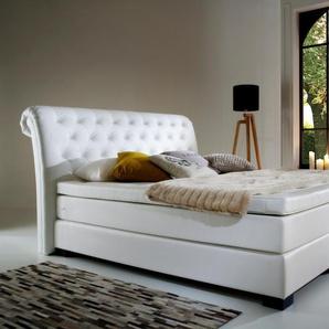 Leonique Boxspringbett, weiß, 180/200 cm