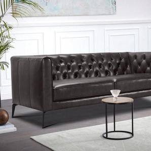 Leonique 3-Sitzer »Narmada«, im Chesterfield-Design