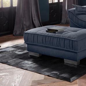 Leonique Polsterhocker Diwan Luxus 0, Struktur fein blau Hocker Nachhaltige Möbel