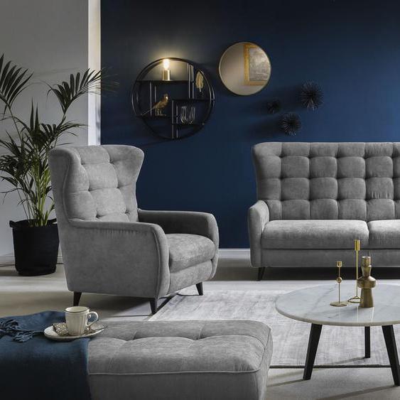Leonique Polsterliege Versailles Veloursstoff, Liegefläche B/L: 88 cm x 172 cm, Gewicht grau Polsterliegen Gästebetten Betten
