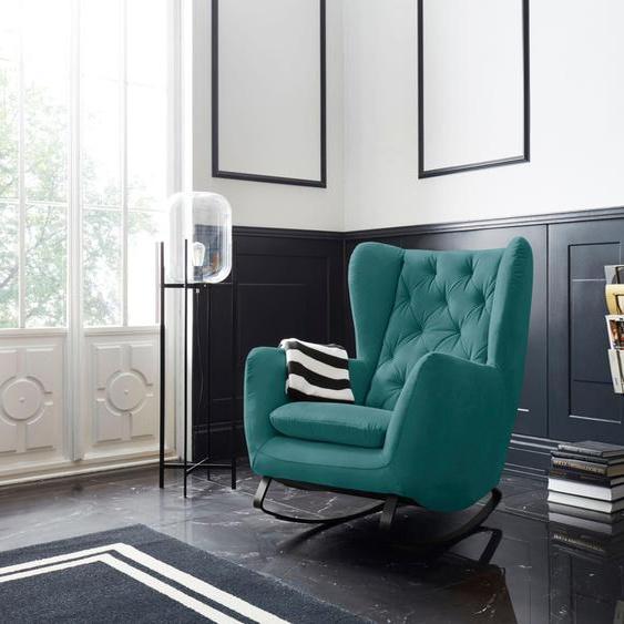 Schaukel-Stuhl »Beatrice«, 82x109x93 cm (BxHxT), Leonique, grün, Material Metall, Holz, Polyester