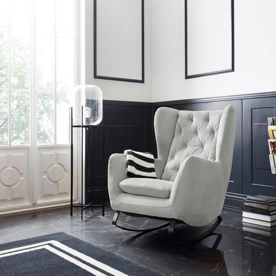 Schaukel-Stuhl »Beatrice«, 82x109x93 cm (BxHxT), Leonique, silber, Material Metall, Holz, Polyester