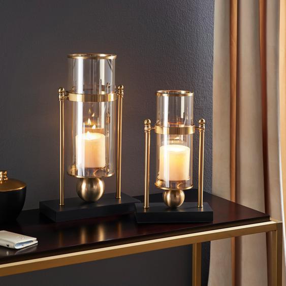 Leonique Windlicht 26x13x42 cm goldfarben Kerzenhalter Kerzen Laternen Wohnaccessoires
