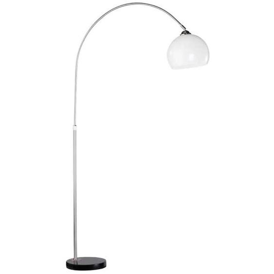 Leuchten Direkt Bogenlampe PIA, E27 1 flg., Ø 25 cm Höhe: 173 silberfarben Bogenlampen Stehleuchten Lampen