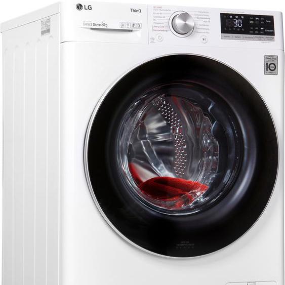 LG Waschmaschine F4WV508S1, 8 kg, 1400 U/min, 4 Jahre Garantie inklusive, Energieeffizienz: C