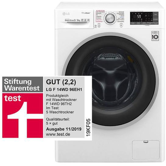 LG Waschtrockner »F14WD96EH1« Energieeffizienz A, Waschen 9 kg, Trocknen 6 kg