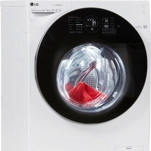 Waschtrockner F16WD128GH, Fassungsvermögen: 12 kg, weiß, Energieeffizienzklasse: A, LG