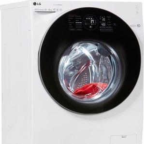 TwinWash Waschtrockner F6WD128TWIN, Fassungsvermögen: 12 kg, weiß, Energieeffizienzklasse: A, LG