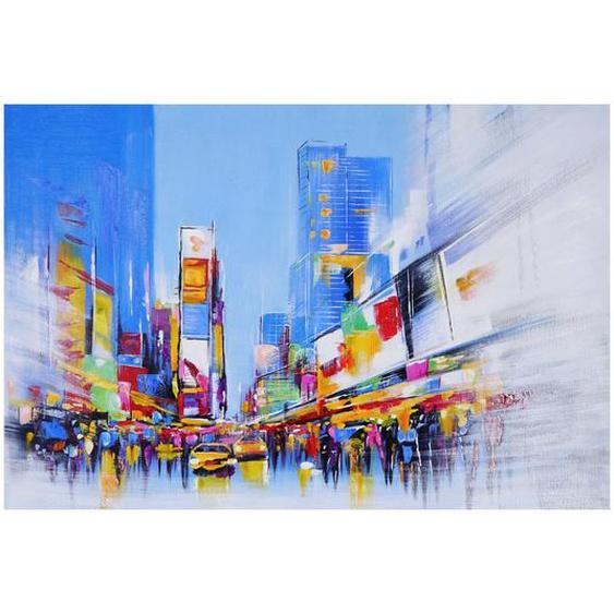 �lgem�lde Times Square, 100% handgemaltes Wandbild Gem�lde XL, 120x80cm