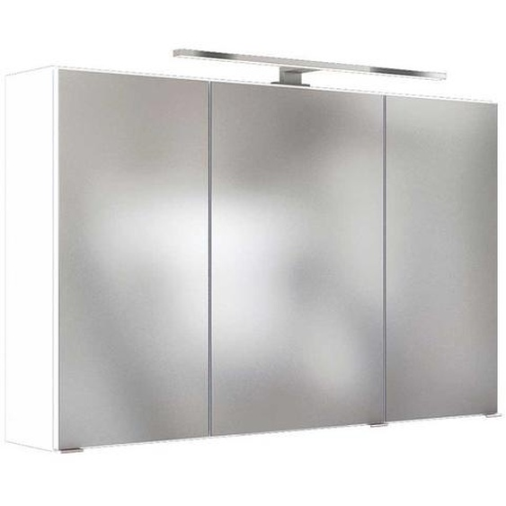 Lichtspiegelschrank in Weiß 100 cm breit