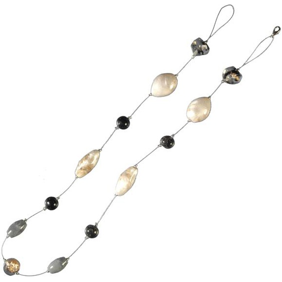 Liedeco Dekokette Granit, zur Dekoration von Seitenschals, Gardinen L: 80 cm beige Raffhalter Zubehör für Vorhänge