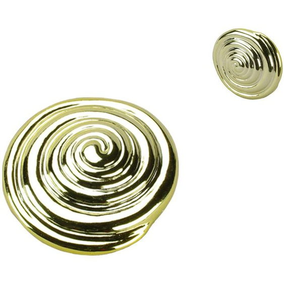 Liedeco Dekomagnet Schnecke, für metallische Flächen Ø 6,5 cm goldfarben Dekoklammern Zubehör Gardinen Vorhänge