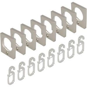 Gardinenring Liedeco, passend für Gardinenstangen (Set, mit Faltenlegehaken)