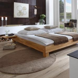 Einzelbett aus Holz Alicante - 140x210 cm - Buche kirschbaumfarben