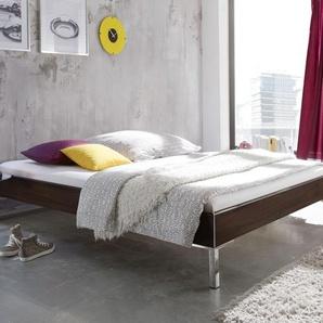 Modernes Designerbett ohne Kopfteil weiß 90x210 cm - Anera
