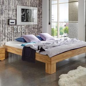 Bett Brighton - 140x200 cm - Kernbuche natur - Fußhöhe 20 cm