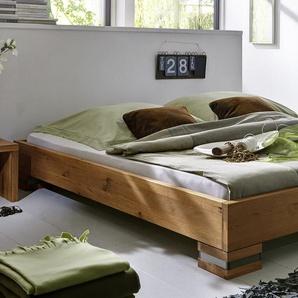 Massivholzbett 120x200 cm, Wildeiche weiß, weitere Farben & Größen bei BETTEN.de