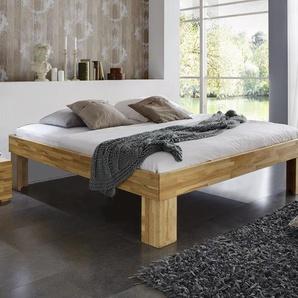 Liege Lucca Komfort - 180x210 cm - Buche nussbaumfarben - Fußhöhe 25 cm