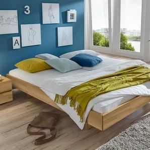 Massivholzbett 140x200 cm, Buche nussbaumfarben, weitere Farben & Größen bei BETTEN.de