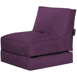 Liege Sitzsack in Violett outdoor