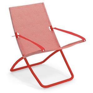Liegestuhl Snooze Emu Group rot, Designer Chiaramonte & Marin