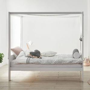 LIFETIME Himmelbett Living Style, grau, 120x200 cm, ohne Baldachin-Stoff