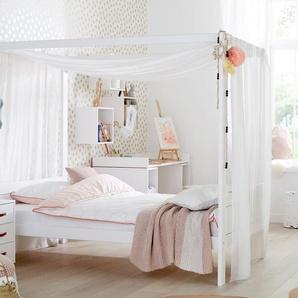 Jugendbett 120x200 cm, weiß mit Holzstruktur, weitere Farben & Größen bei BETTEN.de