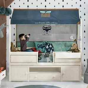 Kinderbett 90x200 cm, weiß mit Holzstruktur, weitere Farben & Größen bei BETTEN.de