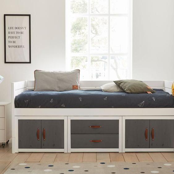 LIFETIME Kojenbett Original, weiß mit Holzstruktur, 90x200 cm