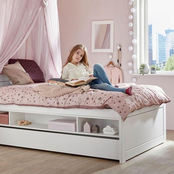 LIFETIME Stauraumbett Original, weiß, 120x200 cm, Regalfächer einseitig - ohne Bettschublade