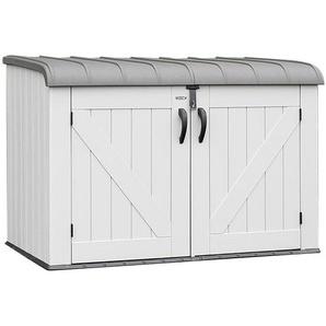 Lifetime XXL Kunststoff Mülltonnenbox für 3 Tonnen Anthrazit/Grau