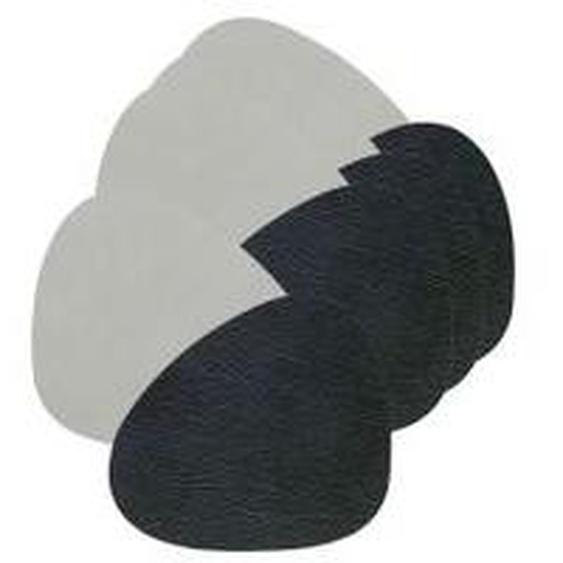 LindDNA - Glasuntersetzer Curve Double, Cloud schwarz / Nupo metallic (4er-Set)