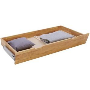 Linea Natura Bettschubkasten , Buche , Holz , Buche , massiv , 145x23.5x77 cm , Schlafzimmer, Betten, Bettkasten