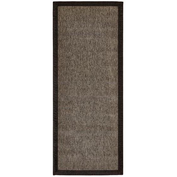 Linea Natura Läufer In-/ Outdoor 80/200 cm Braun , Textil , Bordüre , 80 cm