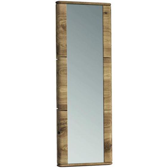 Linea Natura Spiegel Eiche, Wildeiche Braun , Holz, Glas , 41x116x4 cm