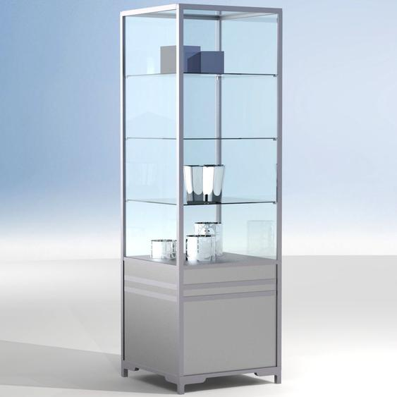 LINK Eck-Vitrinenmodul f�r Theken 90�, mit Unterschrank, b60xt60xh190cm