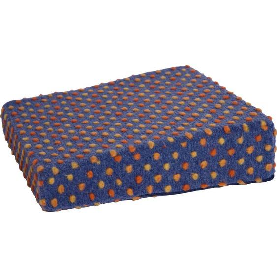 Linke Licardo Keilkissen Aufstehhilfe Punkte, aus reiner Schurwolle B/L: 40 cm x cm, 1 St. blau Sitzkissen Kissen