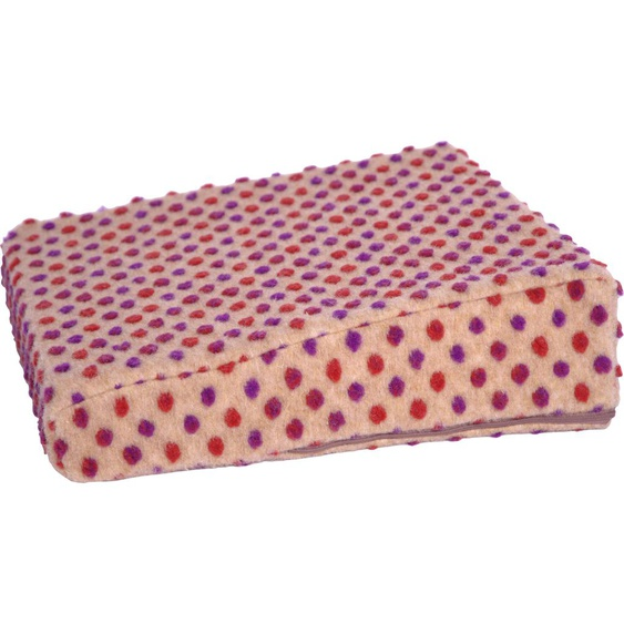 Linke Licardo Keilkissen Aufstehhilfe Punkte, aus reiner Schurwolle B/L: 40 cm x cm, 1 St. braun Sitzkissen Kissen