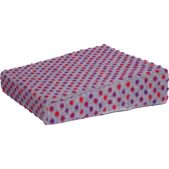 Linke Licardo Keilkissen Aufstehhilfe Punkte, aus reiner Schurwolle B/L: 40 cm x cm, 1 St. silberfarben Sitzkissen Kissen
