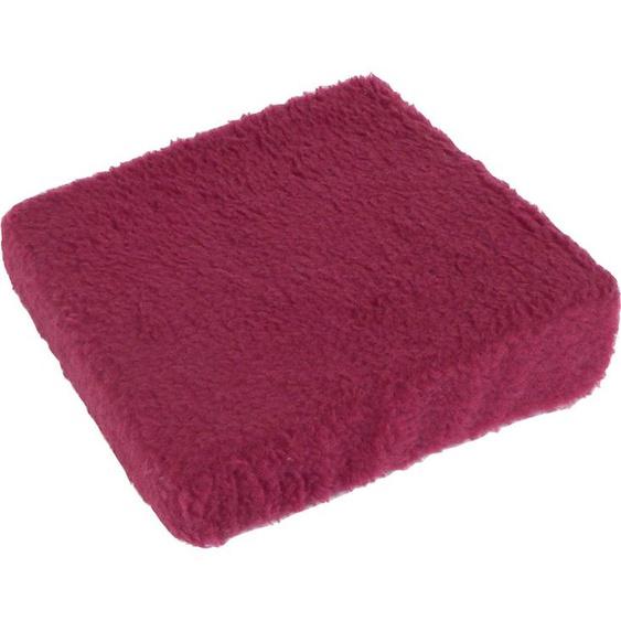 Linke Licardo Keilkissen Aufstehhilfe Uni, aus reiner Schurwolle B/L: 40 cm x cm, 1 St. rot Sitzkissen Kissen