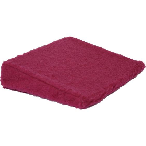 Linke Licardo Keilkissen Cosy, aus reiner Schurwolle B/L: 40 cm x cm, 1 St. rot Nackenkissen Kissen