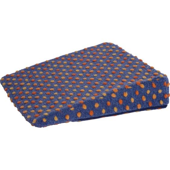 Linke Licardo Keilkissen Punkte, aus reiner Schurwolle B/L: 40 cm x cm, 1 St. blau Sitzkissen Kissen