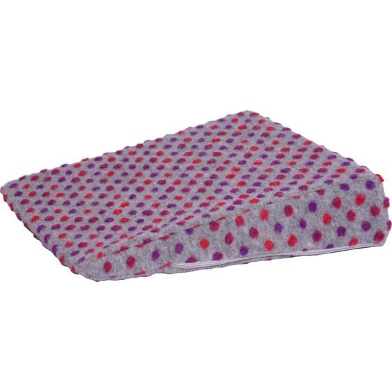Linke Licardo Keilkissen Punkte, aus reiner Schurwolle B/L: 40 cm x cm, 1 St. silberfarben Sitzkissen Kissen