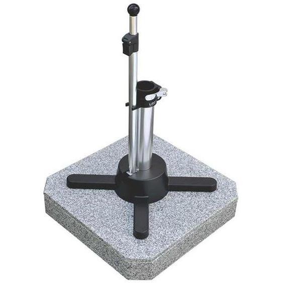 Liro Schirmständer Mini Plus 50 Granit mit Schnellspanner Hellgrau